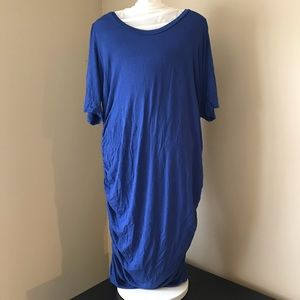 MOTHERHOOD MATERNITY dress with side ruching